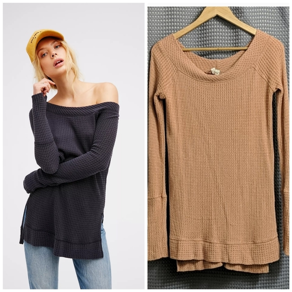 We The Free People Kate Waffle Thermal XS
